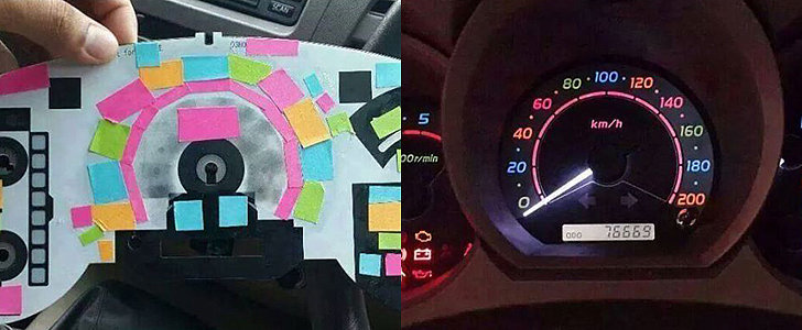 FYI, You Can Use Post-It Notes to Color Your Dashboard Lights