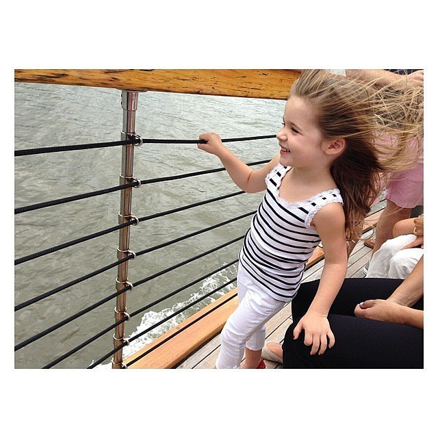 Harper Smith took in the sights during a boat ride around NYC.  Source: Instagram user tathiessen