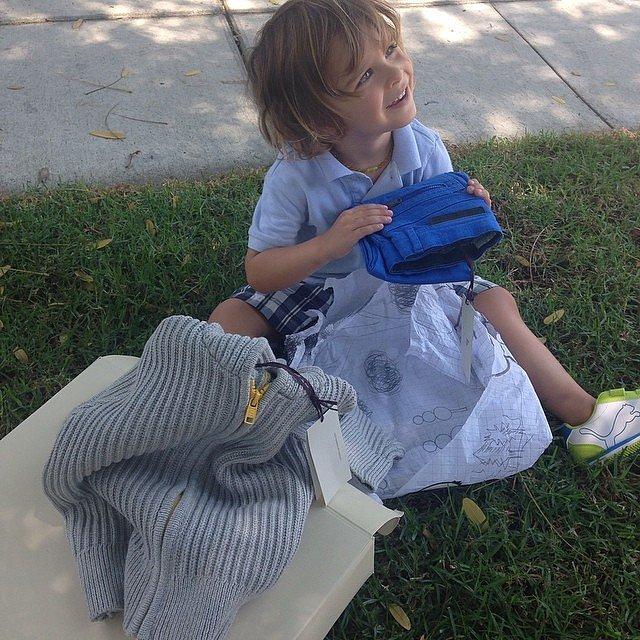 Selma Blair's son Arthur went back-to-school shopping.  Source: Instagram user therealselmablair