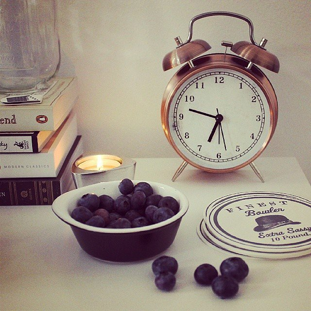A classic alarm clock is the perfect addition to any nightstand, harking back to the days before cell phones. They're not only cute decor pieces — they're useful too!