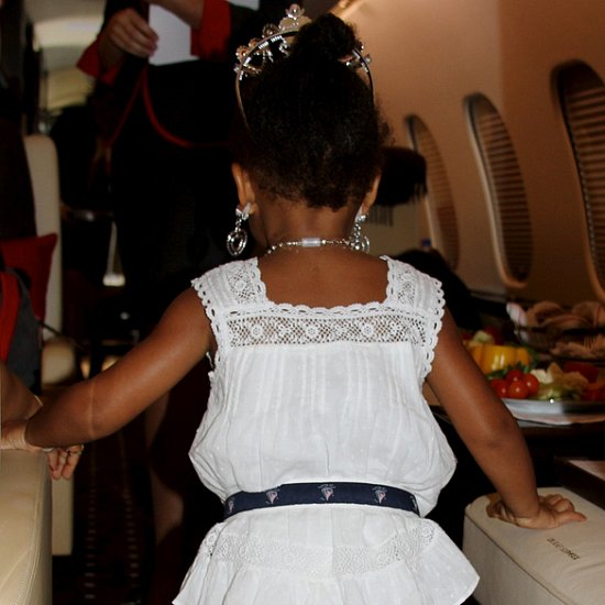 Blue Ivy Wearing Beyonce's Shoes   Pictures