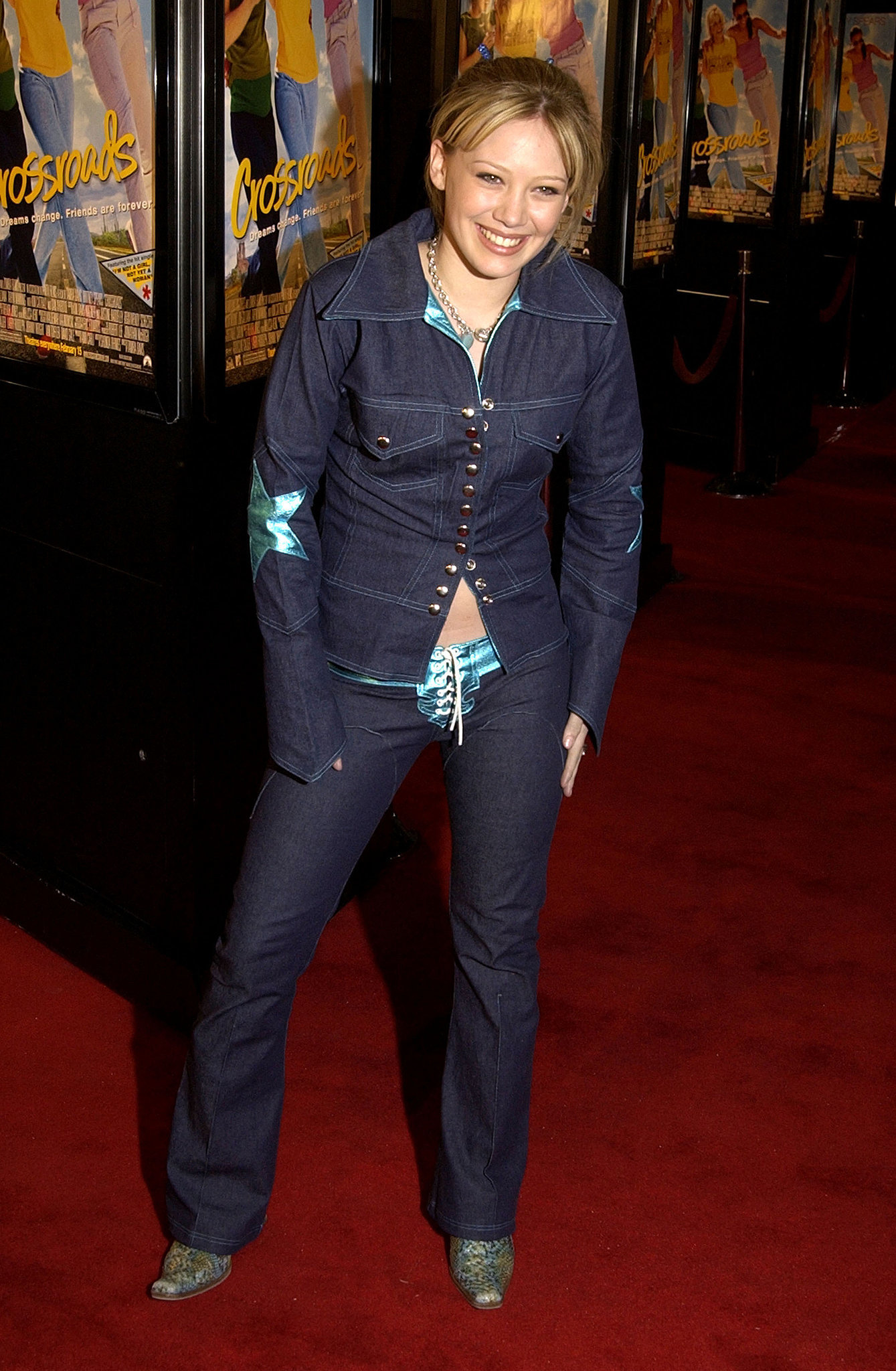 And a Lizzie McGuire-era Hilary Duff rocked lace-up jeans.