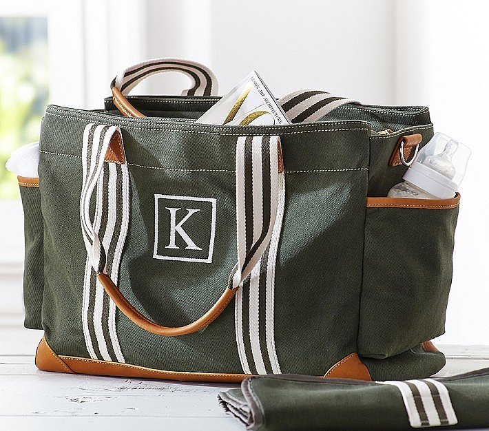pottery barn kids army green classic diaper bag 10 of our favorite new diaper bags for fall. Black Bedroom Furniture Sets. Home Design Ideas