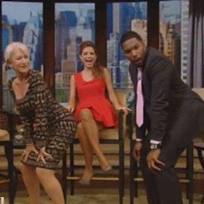 Helen Mirren Twerking With Michael Strahan | Video
