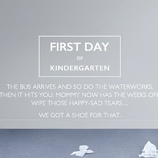 Nine West Ad Campaign About First Day of Kindergarten
