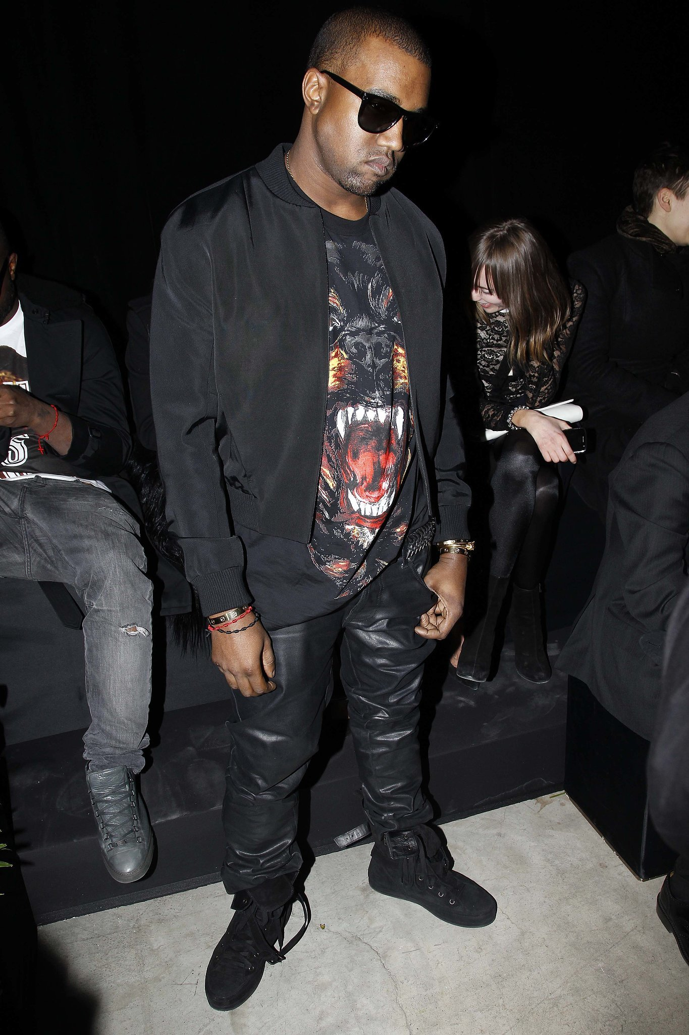 Kanye West at the Fall 2012 Givenchy Runway Show