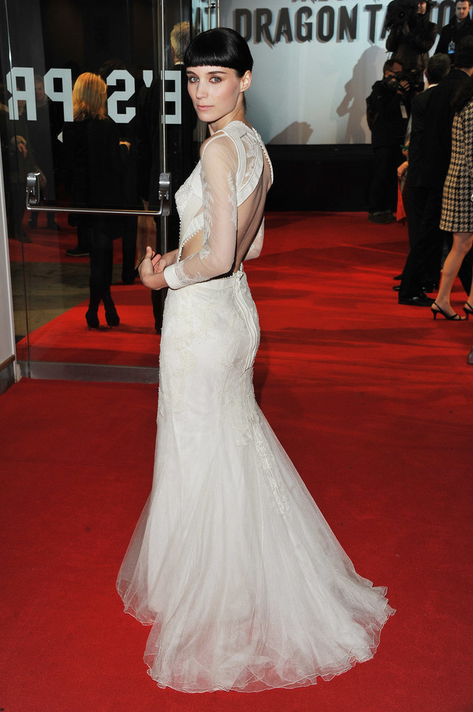 Rooney Mara at the London Premiere of The Girl With the Dragon Tattoo