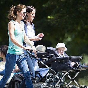 Kate Middleton Pushing Prince George in a Stroller