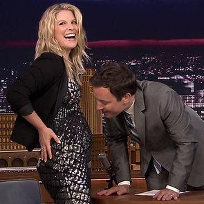 Ali Larter Reveals She's Pregnant on The Tonight Show