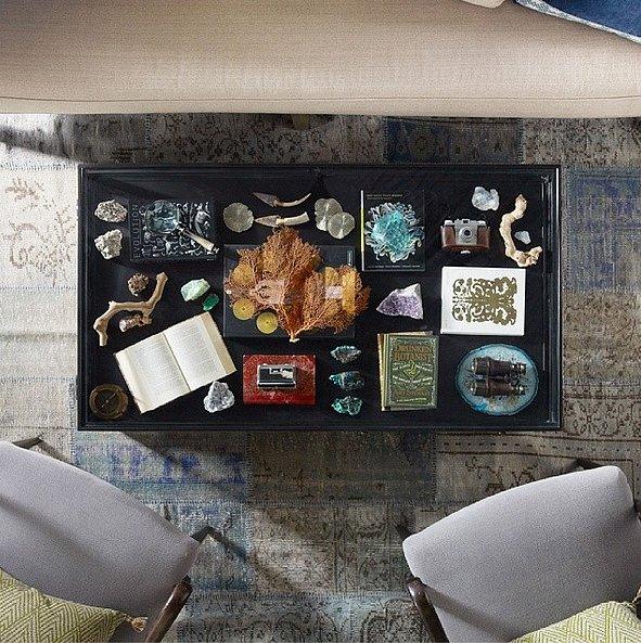 If you don't want to deal with clutter, a shadow-box tabletop is a great way to create more space for your favorite treasures while still keeping the table clear.  Source: Instagram user homeevolutionfurniture
