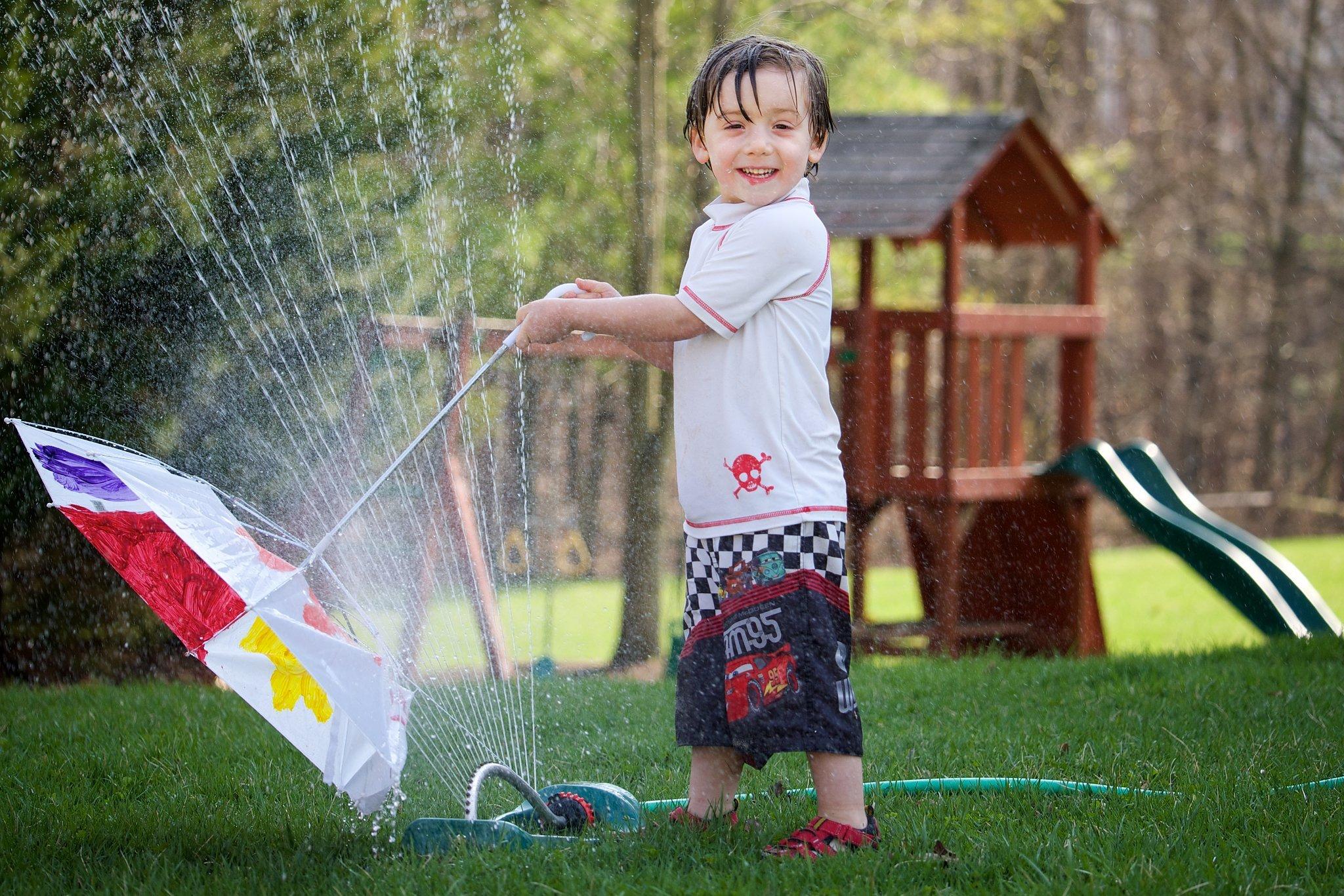 Splash in the Sprinklers