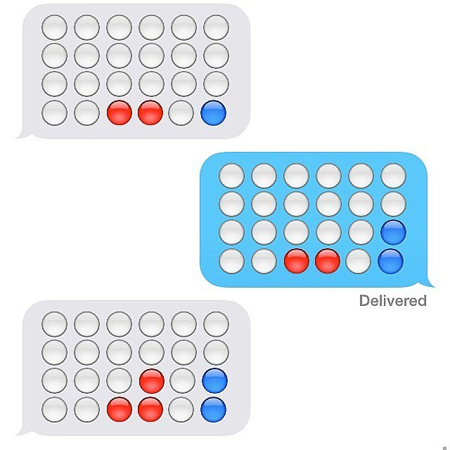 An intense game of Connect Four