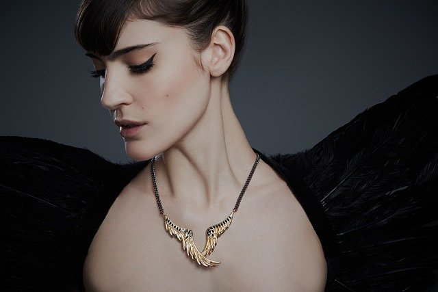 Raven Wing Necklace ($325)