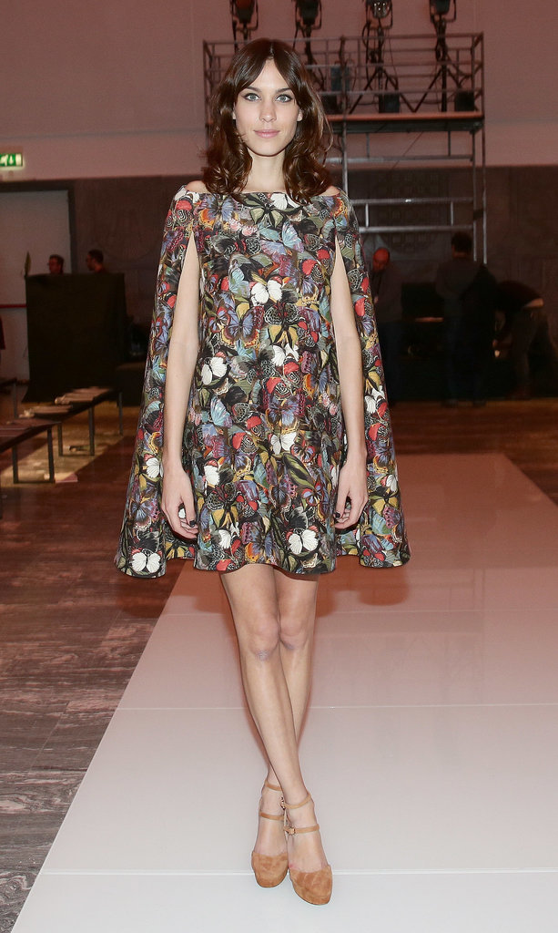 Alexa Chung At Fall 2014 Milan Fashion Week The Stars Have Fallen To The Butterfly Effect