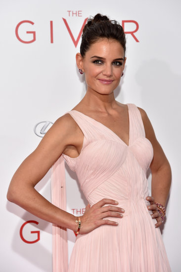 Katie Holmes Is Making the SoulCycle Topknot Red Carpet Chic