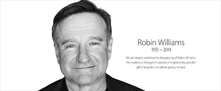 Apple Posts Rare Tribute to Robin Williams on Its Homepage