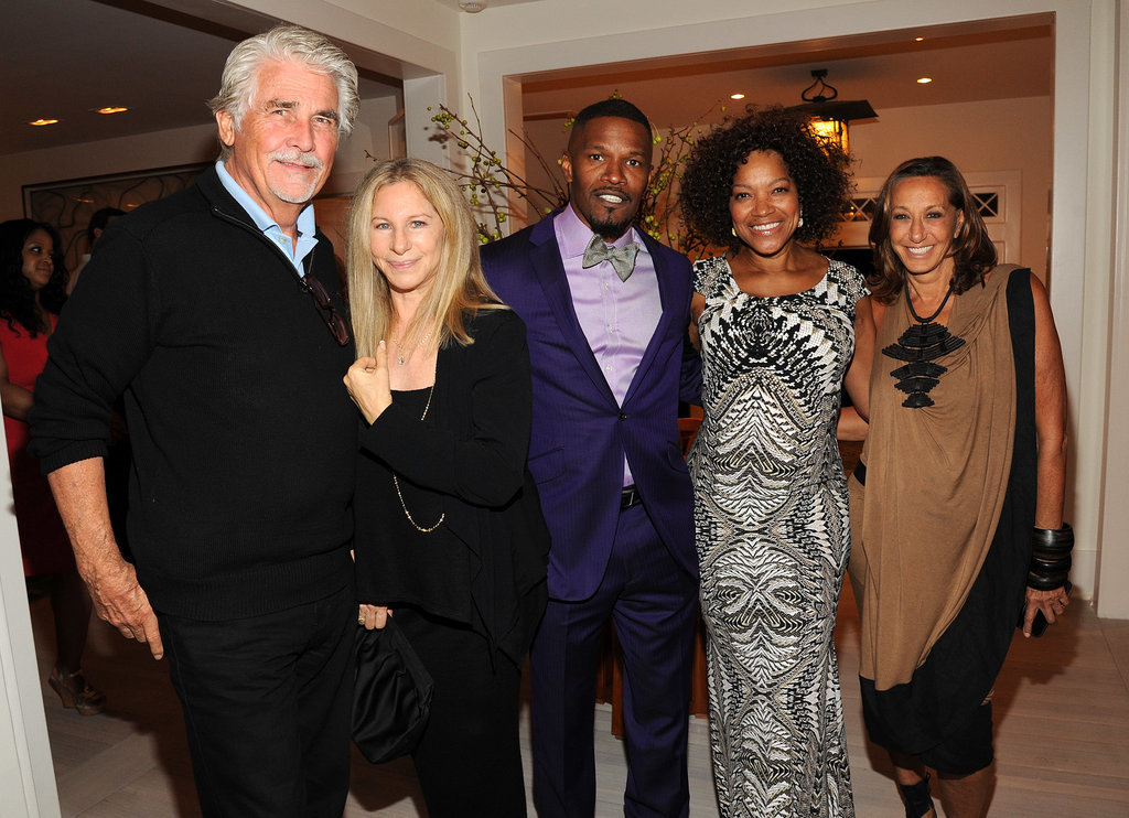 Barbra Streisand, joined by her husband, James Brolin, hung out with Jamie Foxx, Grace Hightower, and Donna Karan in East Hampton, NY, on Saturday. The group gathered at the Apollo in the Hamptons event.