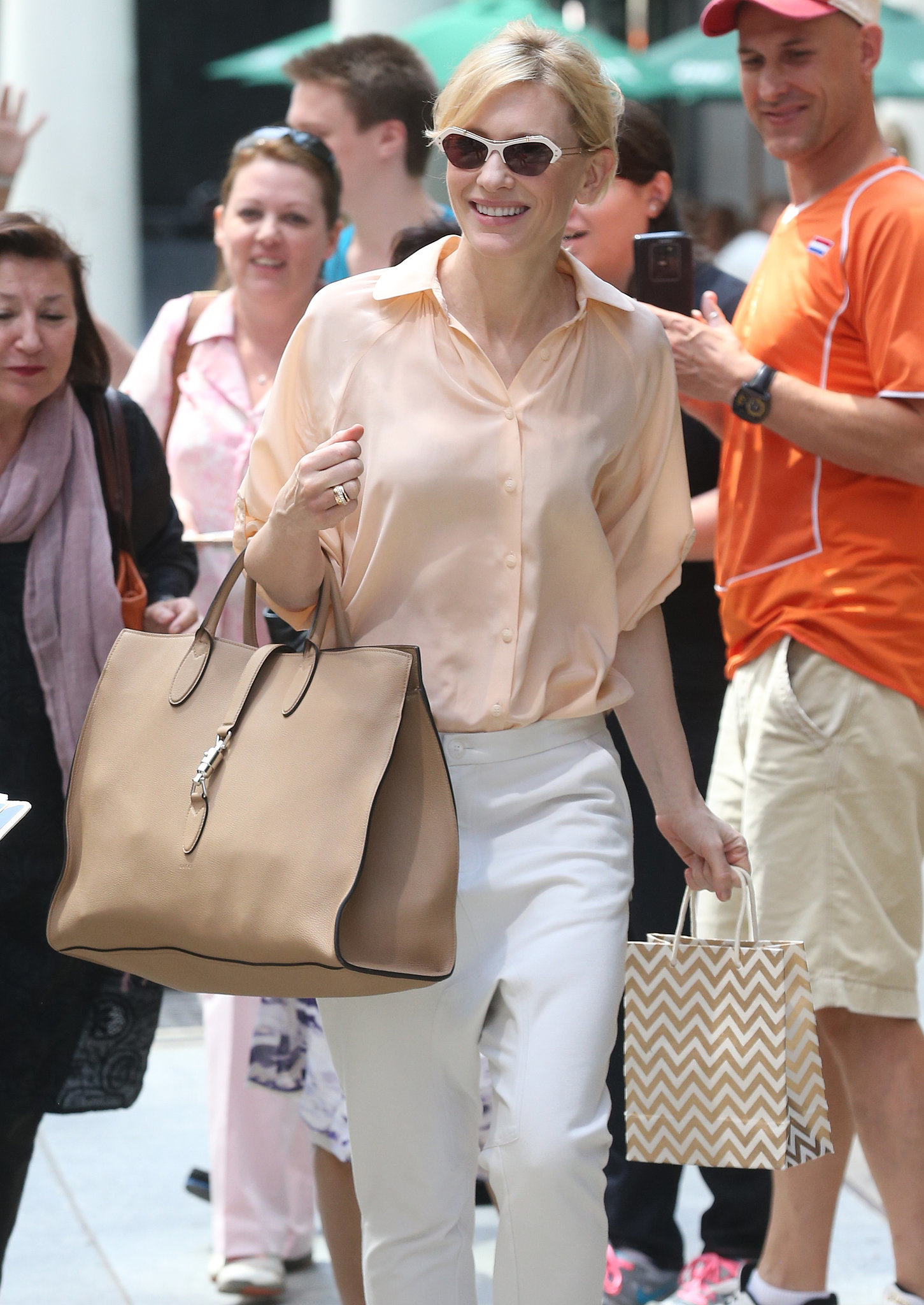 Cate Blanchett was all smiles in NYC on Saturday.