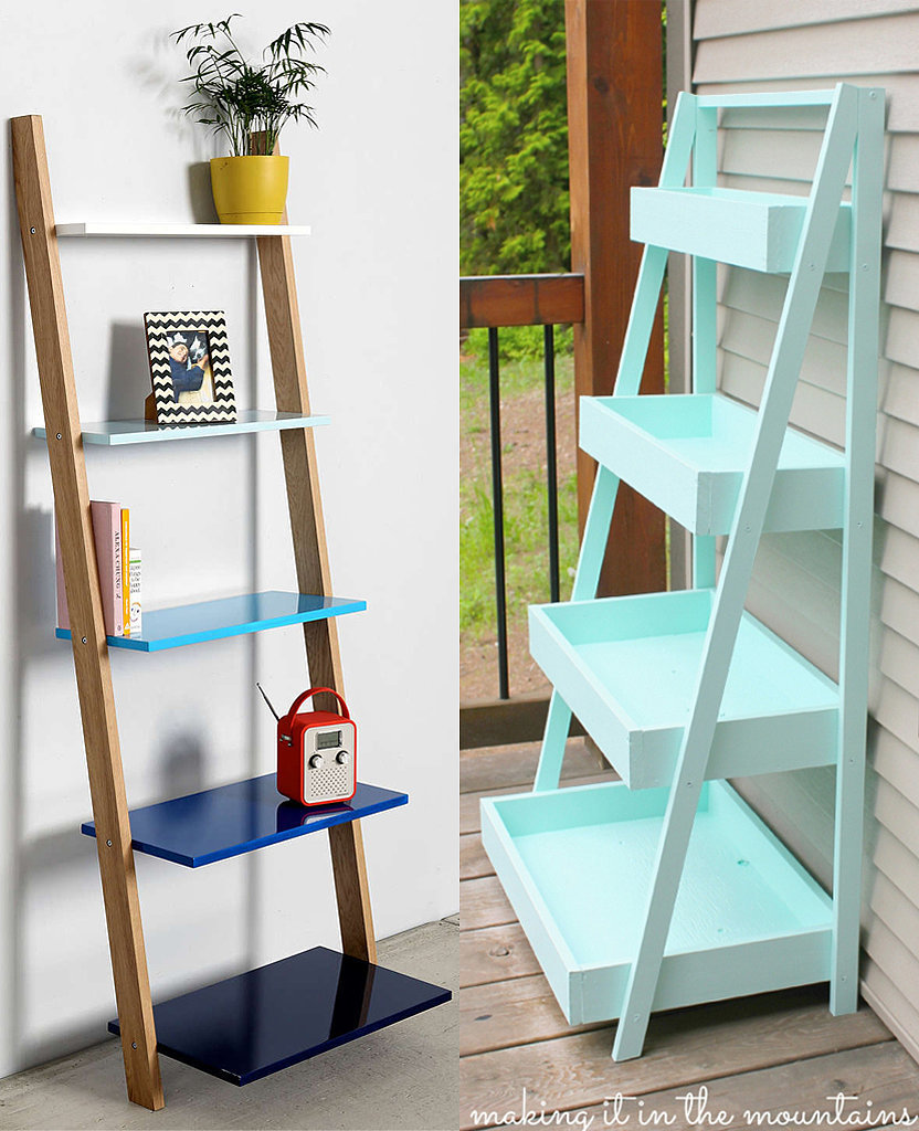 Leaning Ladder Shelving