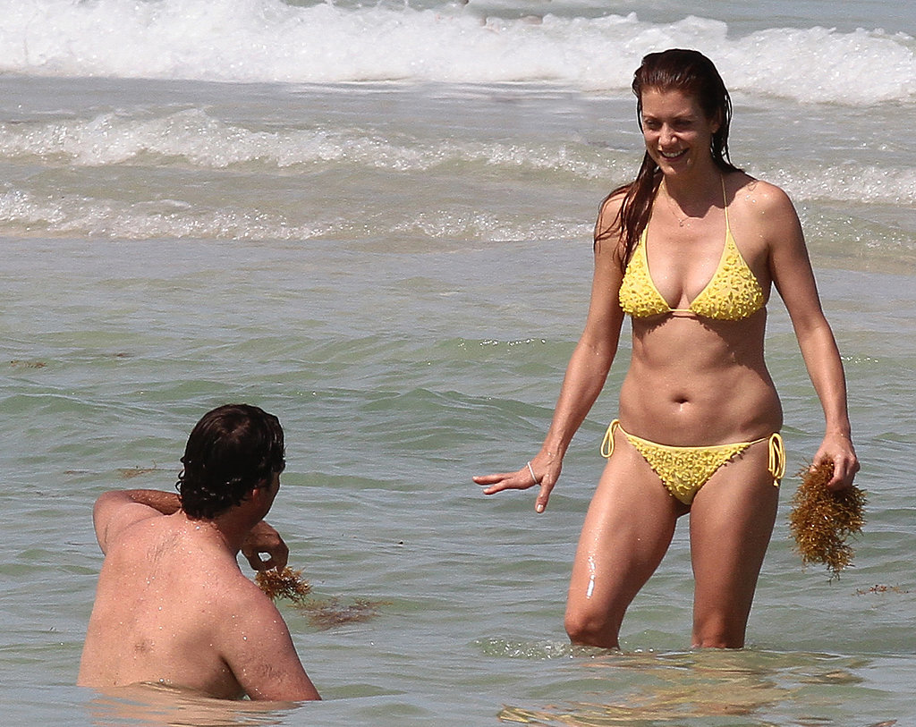 Kate Walsh splashed around with her boyfriend in Miami in June 2014.