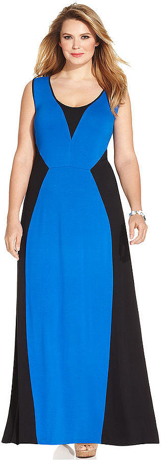 NY Collection Plus-Size Colorblock Dress