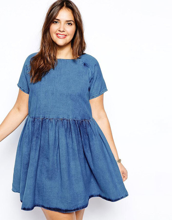 ASOS Plus-Size Denim Dress