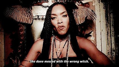 When Angela Bassett saw her fierceness and raised her a dash of badass as Marie Laveau.