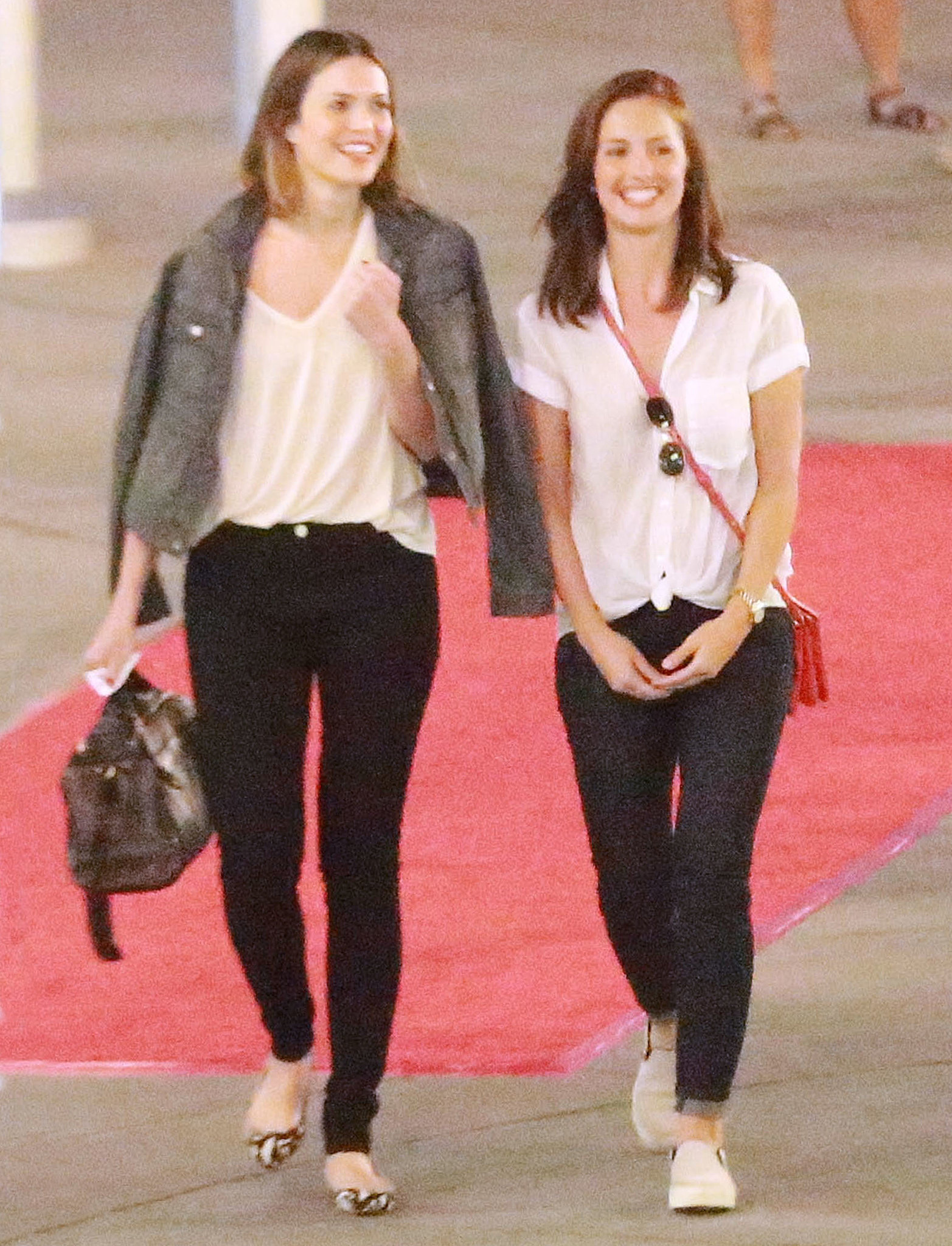 Mandy Moore and Minka Kelly checked out a movie in LA on Monday night.