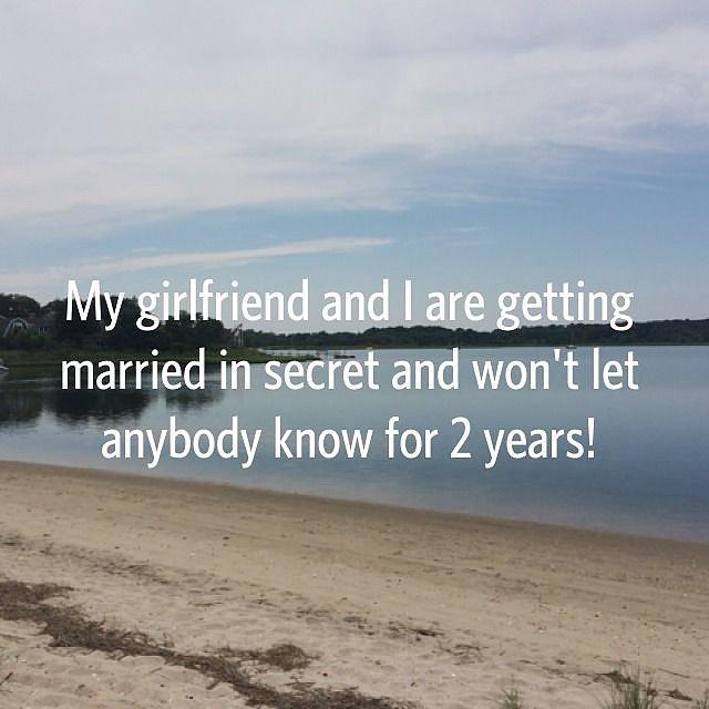 That's a pretty big secret to keep!