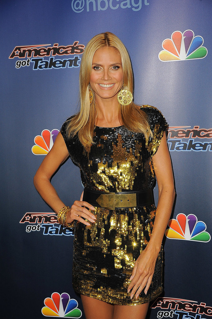 Heidi Klum dazzled on the America's Got Talent red carpet in NYC on Wednesday.
