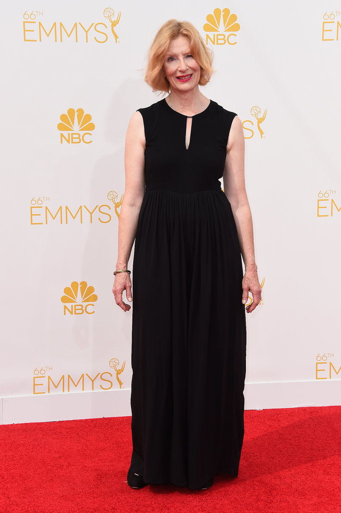 Frances Conroy kept her look simple and demure.