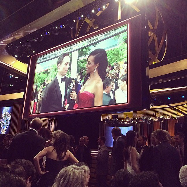 """Carson Daly got excited about his seat in between """"the Homeland cast and Mad Men — awesome!"""""""