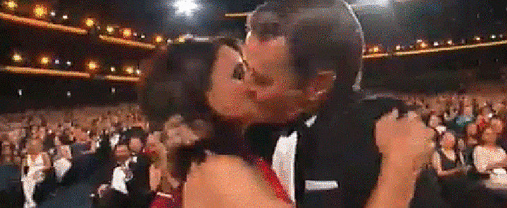 Julia Louis-Dreyfus Gets an Emmy-worthy Kiss From Bryan Cranston
