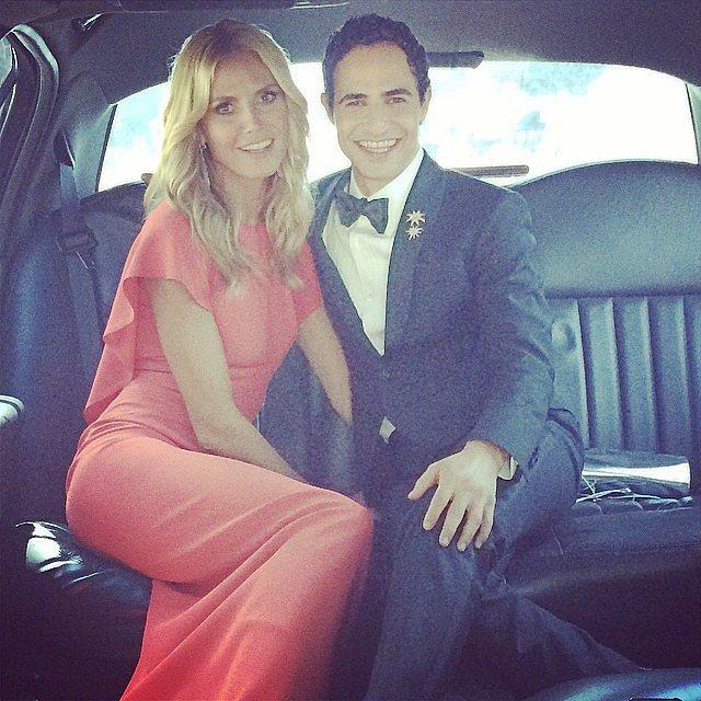 Heidi Klum took a limo ride to the Emmys with fashion designer Zac Posen.