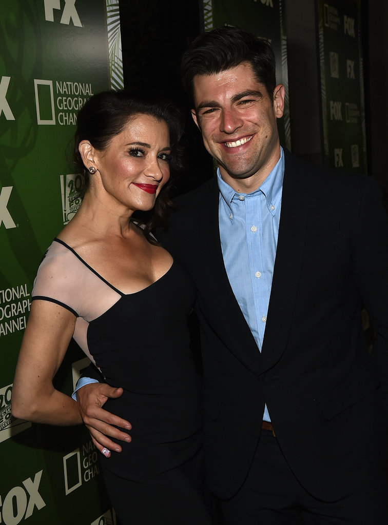 Max Greenfield and his wife, Tess Sanchez, popped up at the Fox/FX party.