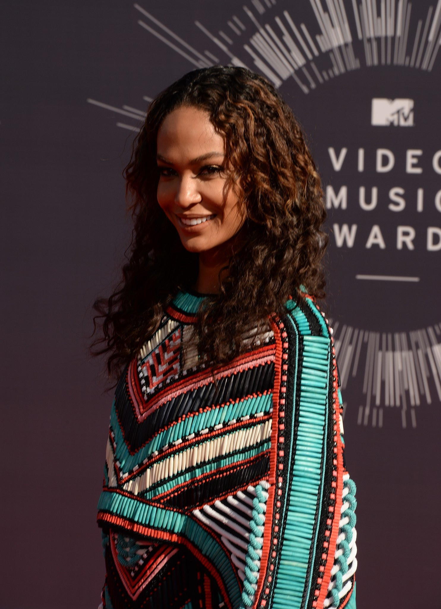 Party Foul! Kim Kardashian and Joan Smalls Wear Nearly Identical Dresses to the VMAs
