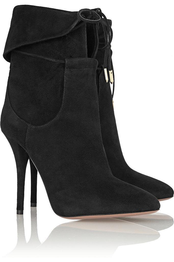 Olivia Palermo x Aquazzura Suede Ankle Boots