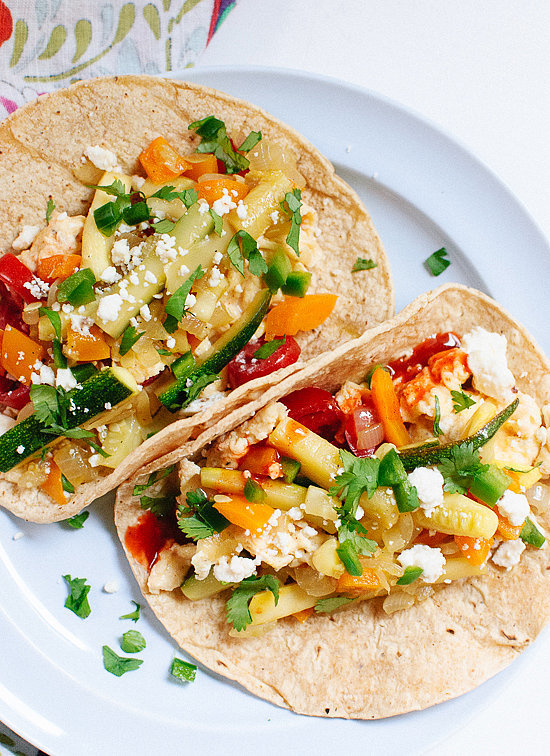 Breakfast Tacos With Zucchini and Squash