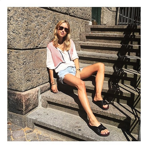 We really wanted to show them off, so we wore them with simple blouses and standard cutoffs. Source: Instagram user lookdepernille