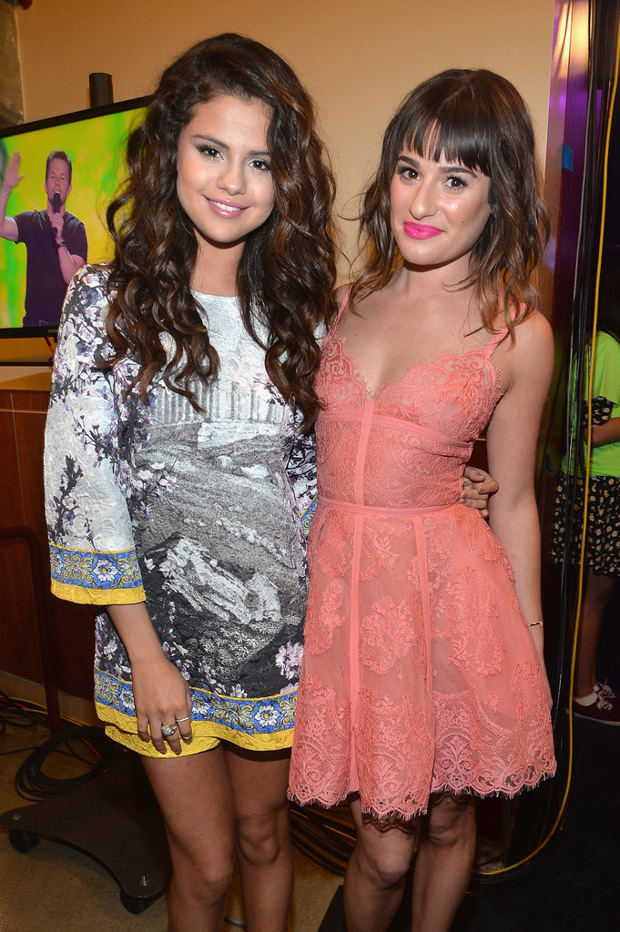 Lea posed with Selena Gomez backstage at the Kids' Choice Awards in March 2014.