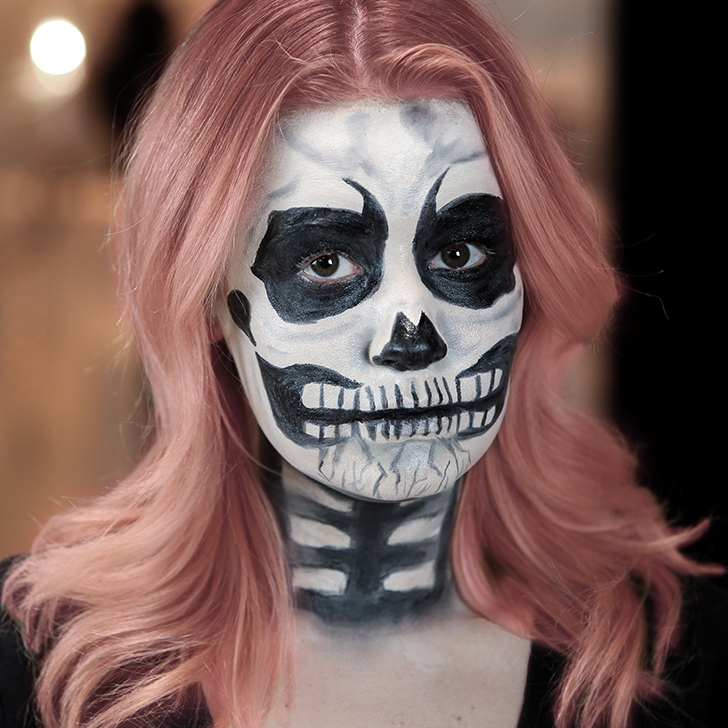 Skeleton Halloween Makeup | Tutorial | POPSUGAR Beauty