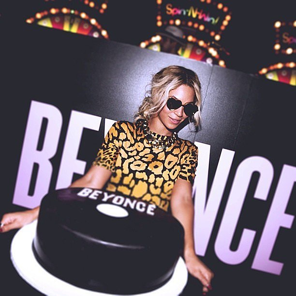 All eyes were on Beyoncé and her personalized cake during the party for her visual album in December 2013. Source: Instagram user beyonce