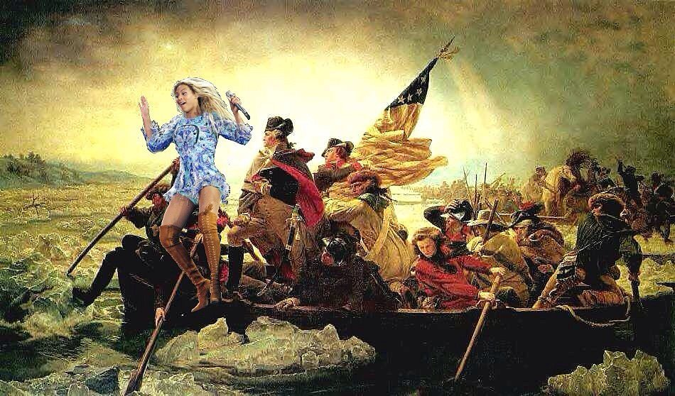 When she helped win the Revolutionary War.