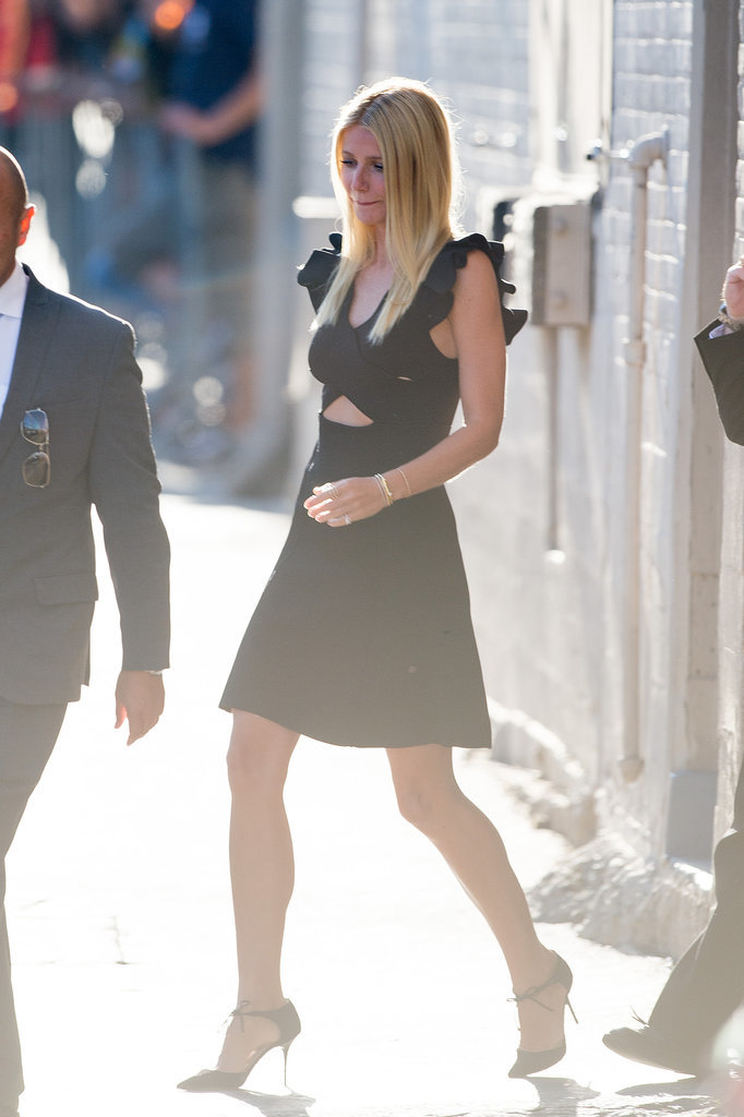 Gwyneth paired her Issa number with Bionda Castana strappy pumps, a Jennifer Fisher Peak cuff, a Bettina Javaheri ring, and a few extra delicate jewels. But the focal point of her all-black look is clear — the crisscross detail of her design speaks volumes — which is why it's a trend with such staying power. On that note, scroll down to find the new LBD your closet's calling for.