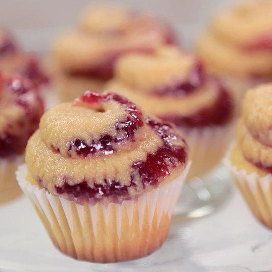 Mini PB&J Cupcakes
