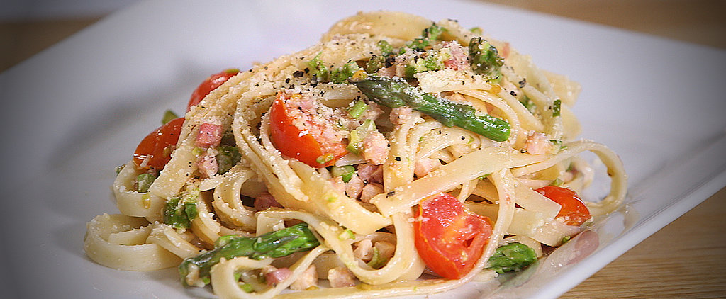 Fast, Fresh, and Easy: Tagliatelle With Tomatoes and Asparagus