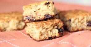 Low-Sugar, Gluten-Free Breakfast: Cranberry Oat Bread