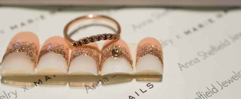 Bling-Bling Wedding Nail Art to Match Your Indie Engagement Ring