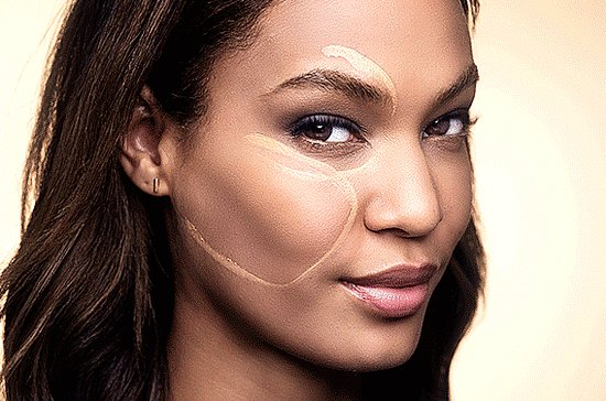 Estee Lauder And Joan Smalls Beauty and Makeup Trick GIFs