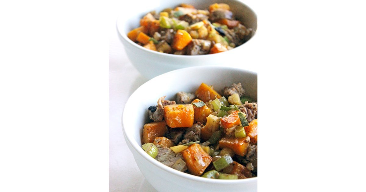 Sausage, Apple, and Butternut Squash Stuffing | The 75 Healthy Dinners ...